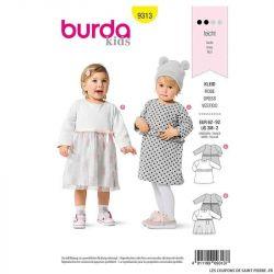 Patron Burda n°9313 Robe fillette