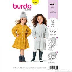 Patron Burda n°9309 Robe enfant