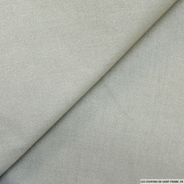 Sergé de polycoton ivoire fines rayures noirSergé de polyester gris