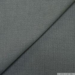 Sergé de polyester gris foncé