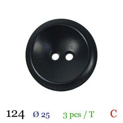 Tube 3 boutons noir Ø 25mm
