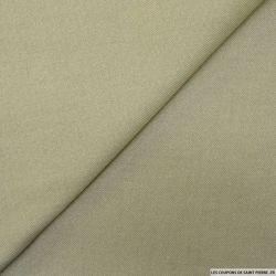 Sergé de polyester kaki