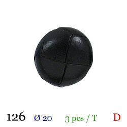 Tube 3 boutons noir Ø 20mm
