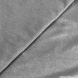 Jersey Velours ras polyester gris