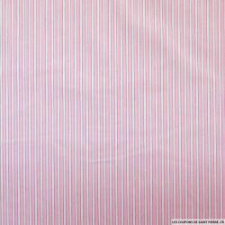 Coton chemise rayures rose et blanc
