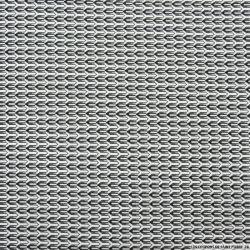 Jacquard coton élasthane graphique noir et blanc