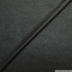 Suédine souple aspect cuir craquelé noir