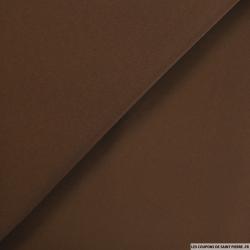 Crêpe polyester chocolat