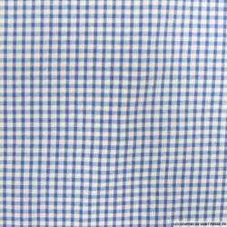 Coton Vichy 3mm bleu