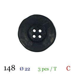 Tube 3 boutons noir Ø 22mm