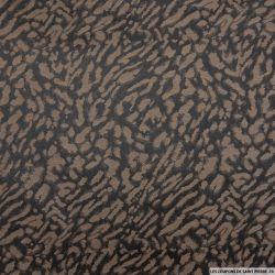 Jacquard polyester leopard chocolat