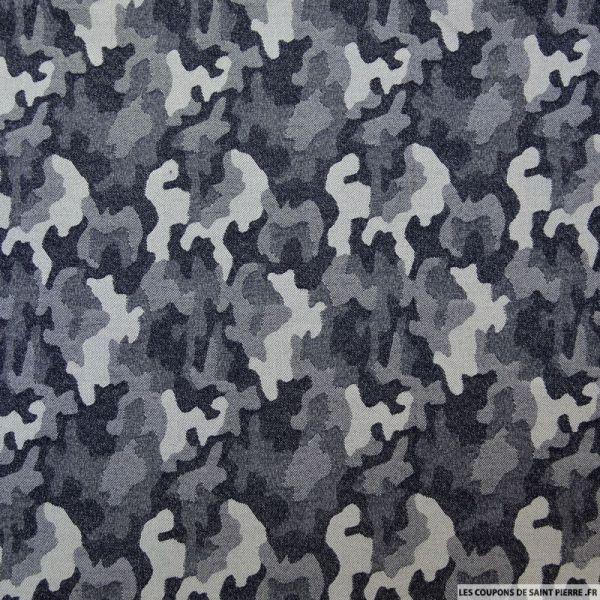 Jean's jacquard coton élasthane army brut