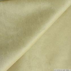 Velours contrecollé beige