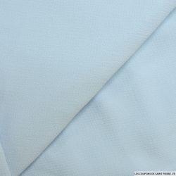 Crêpe polyester texturé bleu ciel