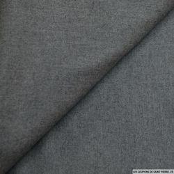 100% laine flanelle gris
