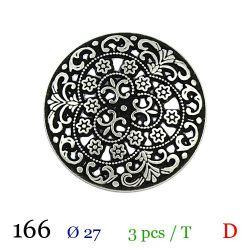 Tube 3 boutons en métal Ø 27mm