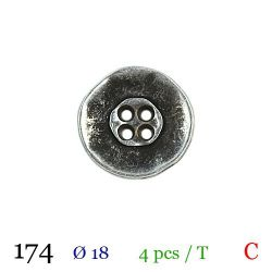 Tube 4 boutons gris Ø 18mm