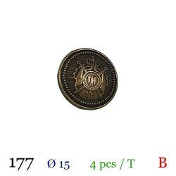Tube 4 boutons en métal Ø 15mm