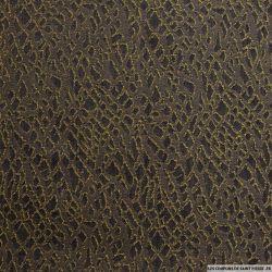 Jean's jacquard léopard marron et ocre