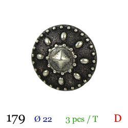 Tube 3 boutons en métal Ø 22mm