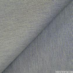 Jean's coton rayé marine et blanc
