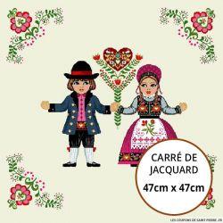Jacquard Hansel et Gretel - 47cm x 47cm
