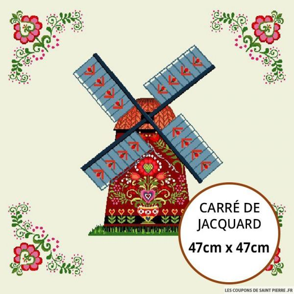 Jacquard moulin - 47cm x 47cm
