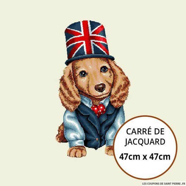 Jacquard tequel british - 47cm x 47cm