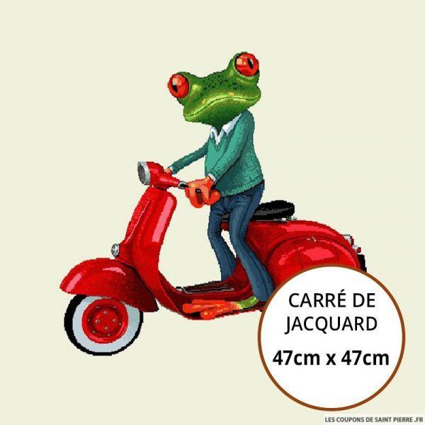 Jacquard grenouille - 47cm x 47cm