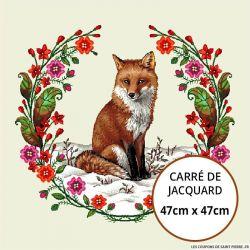 Jacquard renard - 47cm x 47cm