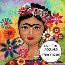 Jacquard Frida au chat - 47cm x 47cm