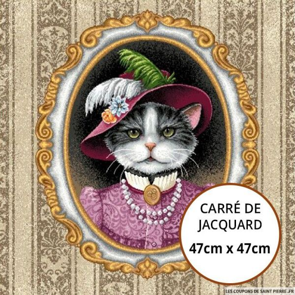 Jacquard chat aristocrate - 47cm x 47cm