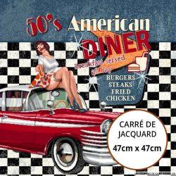 Jacquard 50's american diner menu - 47cm x 47cm