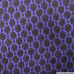 Jean's jacquard cercles violet