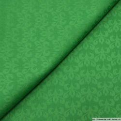 Jean's jacquard blason vert