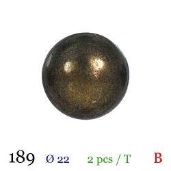 Tube 2 boutons en métal Ø 22mm