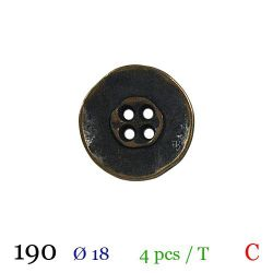 Tube 4 boutons en métal Ø 18mm