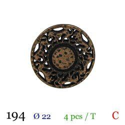 Tube 4 boutons en métal Ø 22mm
