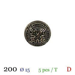 Tube 5 boutons en métal Ø 15mm