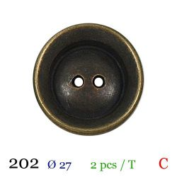 Tube 2 boutons en métal Ø 27mm