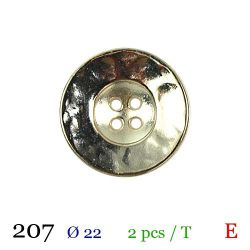 Tube 2 boutons gris Ø 22mm