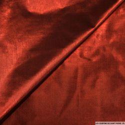 Tissu polyester lamé bordeaux