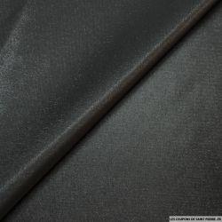 Taffetas polyester noir envers argent