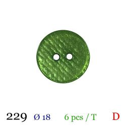 Tube 6 boutons vert Ø 18mm