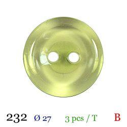 Tube 3 boutons vert Ø 27mm