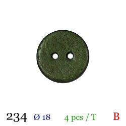 Tube 4 boutons vert Ø 18mm
