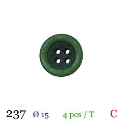 Tube 4 boutons vert Ø 15mm