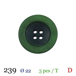 Tube 3 boutons vert Ø 22mm
