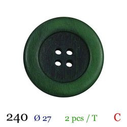 Tube 2 boutons vert Ø 27mm