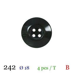 Tube 4 boutons vert foncé Ø 18mm
